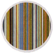 Comfortable Stripes Vlll Round Beach Towel by Michelle Calkins