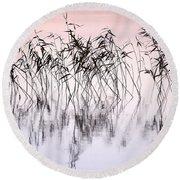 Common Reeds Round Beach Towel by Jouko Lehto