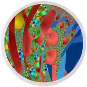 Complex Garden Round Beach Towel by Mark Greenberg