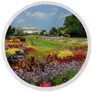 Round Beach Towel featuring the photograph Conservatory Gardens by Lynn Bauer