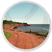 Contemplation Round Beach Towel by Kathy McClure