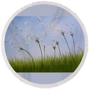 Contemporary Landscape Art Make A Wish By Amy Giacomelli Round Beach Towel by Amy Giacomelli