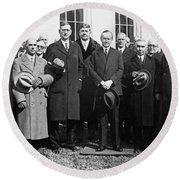 Coolidge: Freemasons, 1929 Round Beach Towel