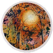Copper Moon Round Beach Towel