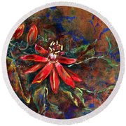 Copper Passions Round Beach Towel
