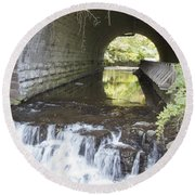 Round Beach Towel featuring the photograph Corbetts Glen by William Norton