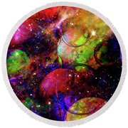 Cosmic Confusion Round Beach Towel