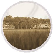 Round Beach Towel featuring the photograph Country Estate by Shannon Harrington