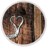 Crafted Heart Round Beach Towel