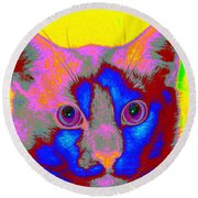 Crayola Cat Round Beach Towel