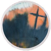 Cross Round Beach Towel