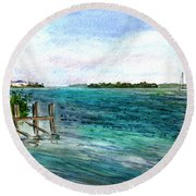 Cudjoe Bay Round Beach Towel