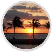 Round Beach Towel featuring the photograph Cudjoe Sunrise by Clara Sue Beym