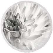 Dahlia Flower 02 Round Beach Towel