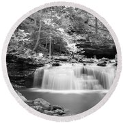 Dainty Waterfall Round Beach Towel