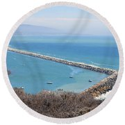 Round Beach Towel featuring the photograph Dana Point California 9-1-12 by Clayton Bruster