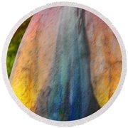 Round Beach Towel featuring the digital art Dance Through The Light by Richard Laeton