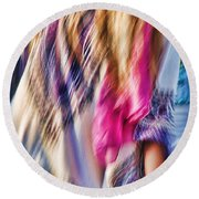 Dancing Hippie Round Beach Towel