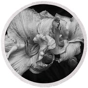 Day Lilies Round Beach Towel by Eunice Gibb
