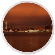 Daybreak Ferry Round Beach Towel