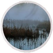 Daybreak Marsh Round Beach Towel