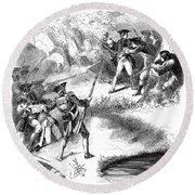 Death Of Jumonville (1718-1754) Round Beach Towel