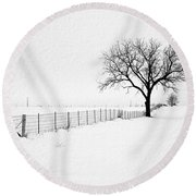 December Round Beach Towel by Sue Stefanowicz