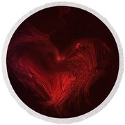 Deep Hearted Round Beach Towel