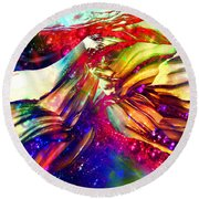 Deep Within Round Beach Towel