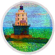 Round Beach Towel featuring the photograph Delight House by Clara Sue Beym