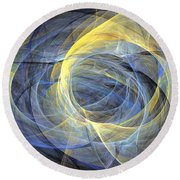 Delightful Mood Of Abstracted Mind Round Beach Towel