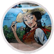 Denver Round Beach Towel by Dany Lison