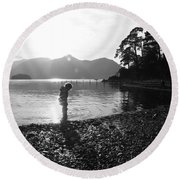 Round Beach Towel featuring the photograph Derwent by Linsey Williams