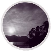 Round Beach Towel featuring the photograph Derwent Ripples by Linsey Williams