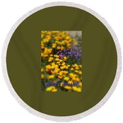 Round Beach Towel featuring the photograph Desert Beauty by Carla Parris