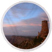Desert View Watchtower Round Beach Towel