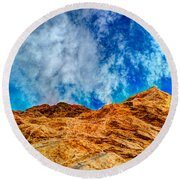 Dirt Mound And More Sky Round Beach Towel