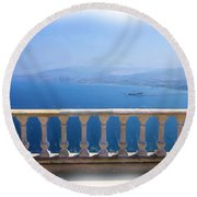 Round Beach Towel featuring the photograph Do-00492 Saidet El-nourieh by Digital Oil