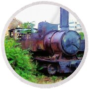 Round Beach Towel featuring the photograph Do-00504 Train In Mar Mickael by Digital Oil