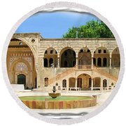 Round Beach Towel featuring the photograph Do-00522 Emir Bechir Palace by Digital Oil
