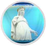 Do-00531 Our Lady Of Lebanon Round Beach Towel