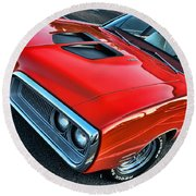 Dodge Super Bee In Red Round Beach Towel