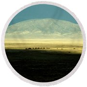 Dome Mountain Round Beach Towel by Brent L Ander