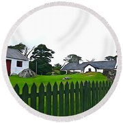Round Beach Towel featuring the photograph Donegal Home by Charlie and Norma Brock