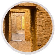 Doorway Chaco Canyon Round Beach Towel