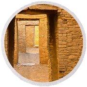 Doorway Chaco Canyon Round Beach Towel