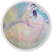 Round Beach Towel featuring the painting Dorothy Dancer by Judith Desrosiers