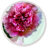 Double Hollyhock Round Beach Towel