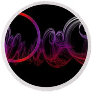 Double Wedding Rings Of Love Round Beach Towel