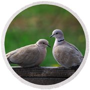 Doves Round Beach Towel